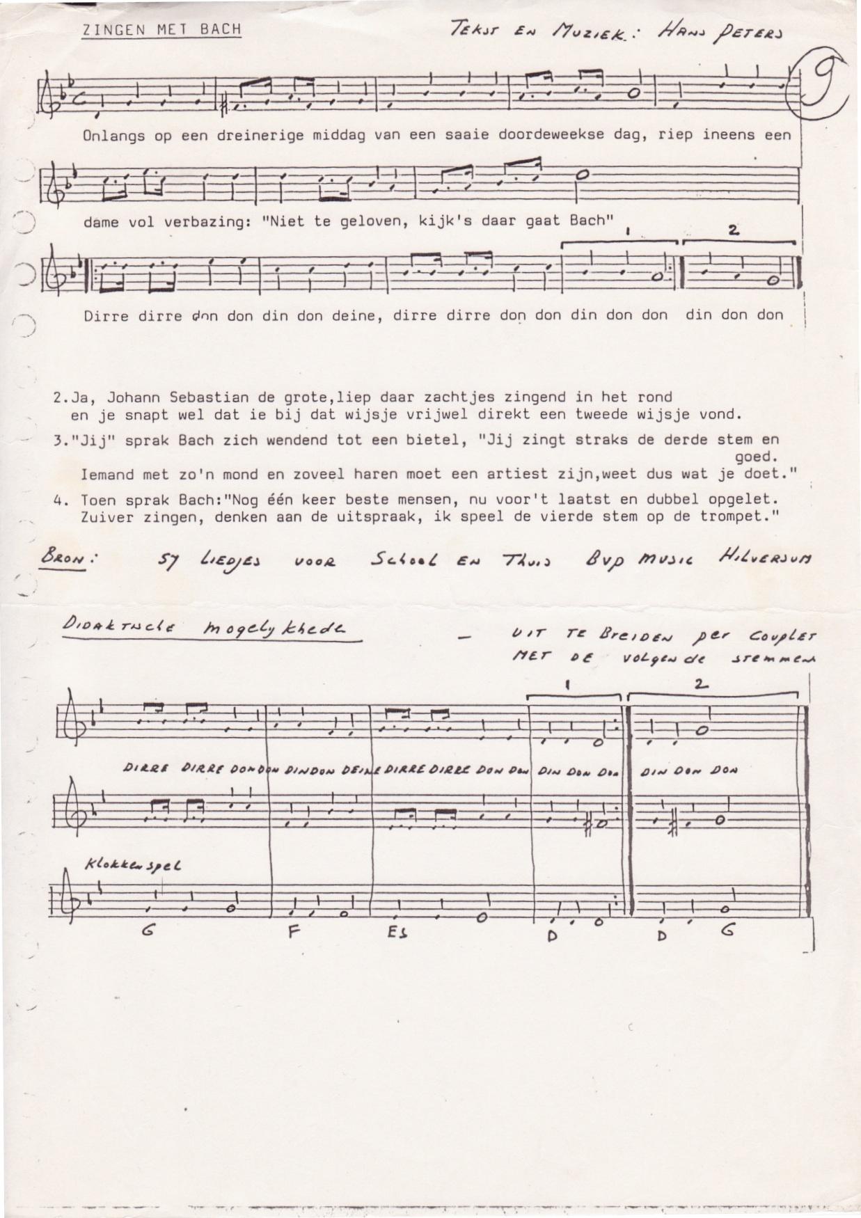 Melodie om zelf tekst op te maken melodietje eigen lied