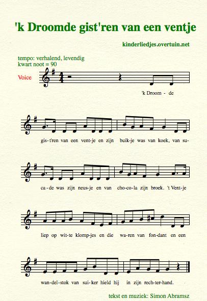 Genoeg Kinderliedjes met muziek D / muzieknotatie, liedteksten - tekst en #OM94