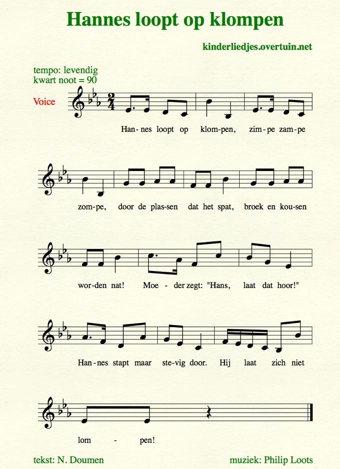Nederlandse kinderliedjes met muziek