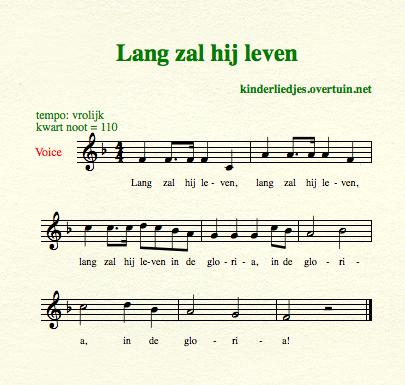 wel gefeliciteerd bladmuziek Verjaardagsliedjes met muziek   alle Nederlandse  wel gefeliciteerd bladmuziek