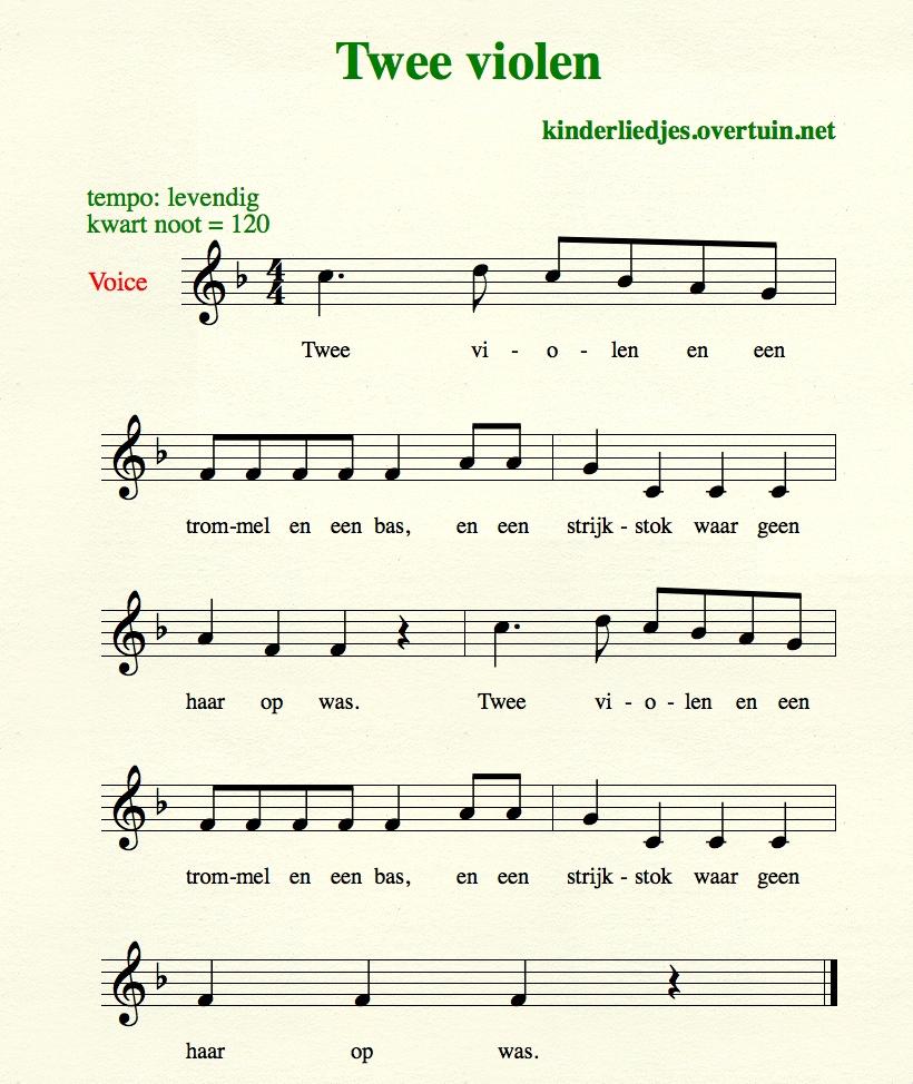 Viool Bladmuziek Voor Beginners Archidev