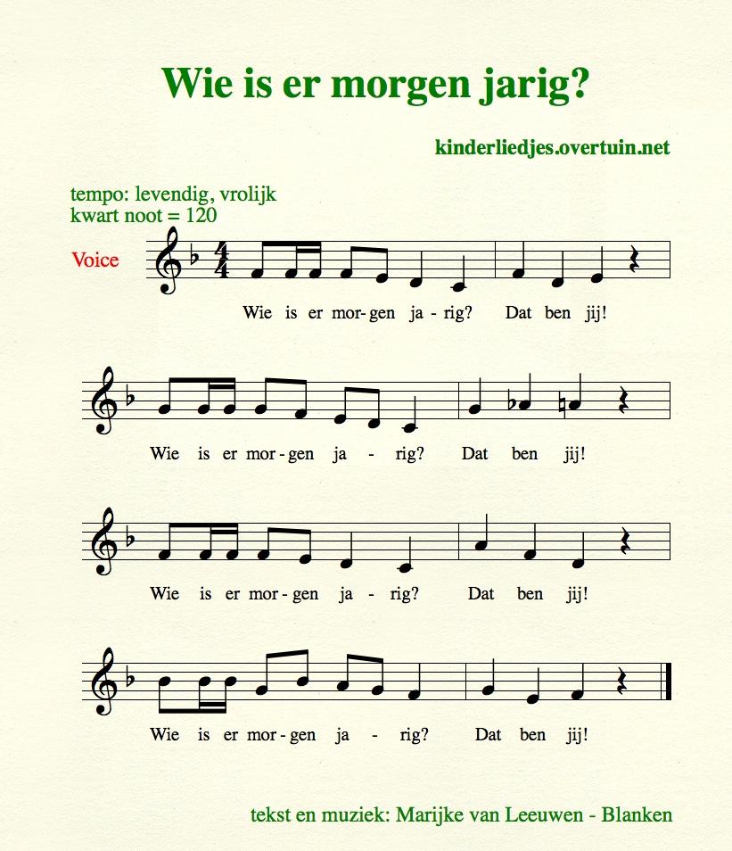jarig morgen Verjaardagsliedjes met muziek   alle Nederlandse  jarig morgen