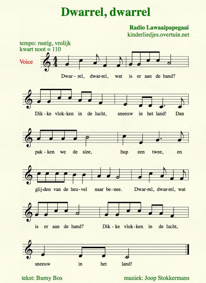 Vaak Kinderliedjes met muziek D / muzieknotatie, liedteksten - tekst en @LV78