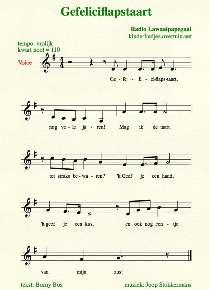 Vaak Verjaardagsliedjes met muziek - alle Nederlandse  WS86