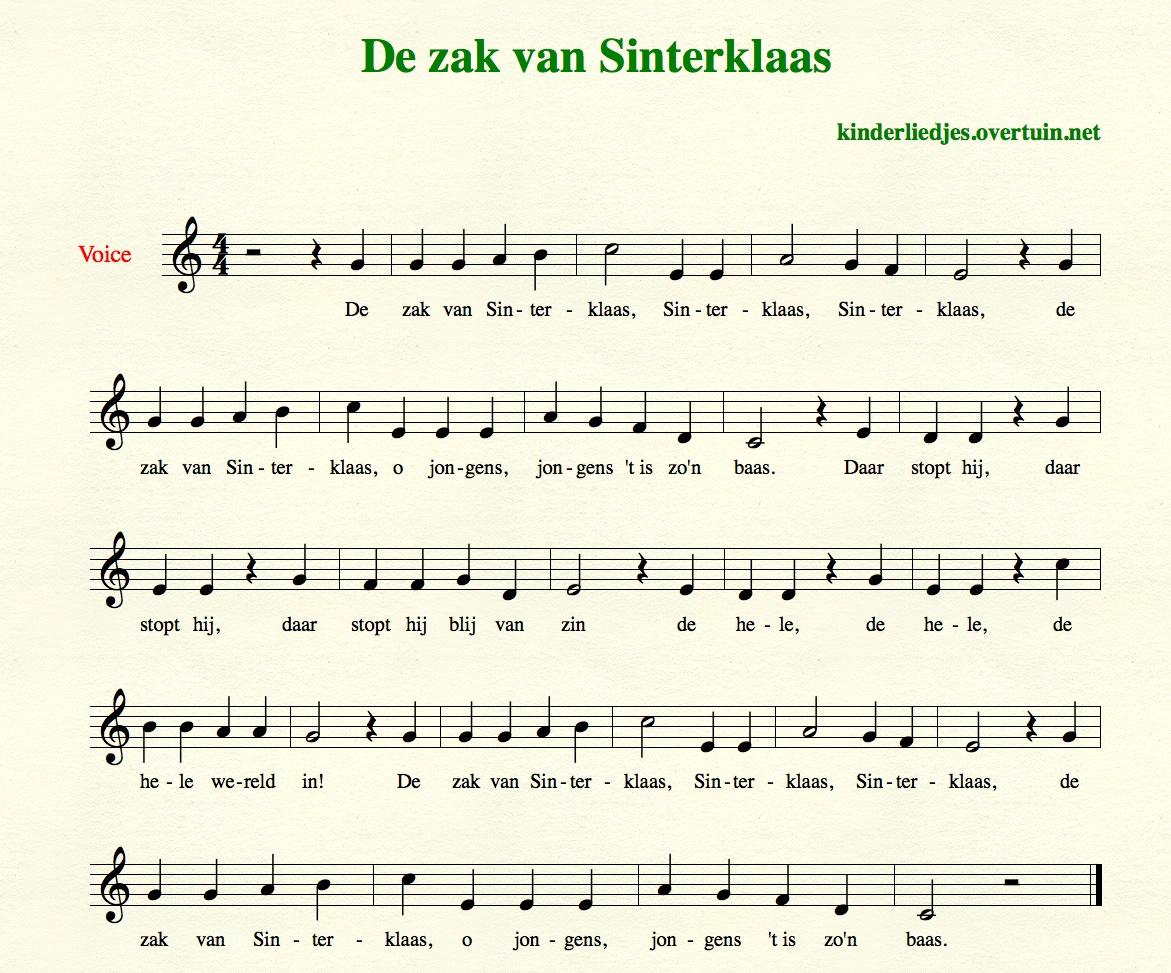 Super Sinterklaasliedjes met muziek en bladmuziek - 35 liedjes  WK04