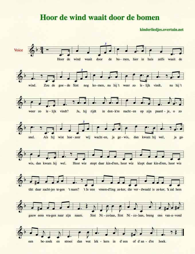Beroemd Sinterklaasliedjes met muziek en bladmuziek - 35 liedjes @IX02